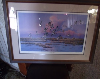 Autumn wings by Phillip Crowe, Print, Wood frame, (#953)