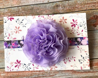 Purple Headband/Purple Baby Headband/Infant Headband/Newborn Headband/Baby Girl Headband/Lavender Headband/Baby Headbands/Floral Headband