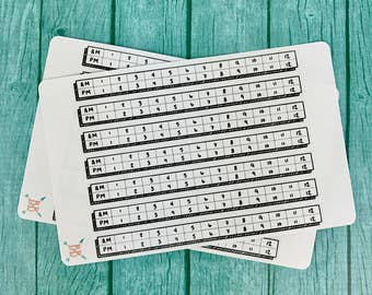 Horizontal Time Tracker Stickers - Wide Spaced