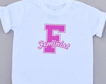 Kids Feminist Shirt - Feminist Tshirt - Cute Girls Shirt - Feminist Tops - Girl Power