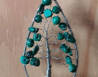 Tree of life with therapeutic stones pendant!