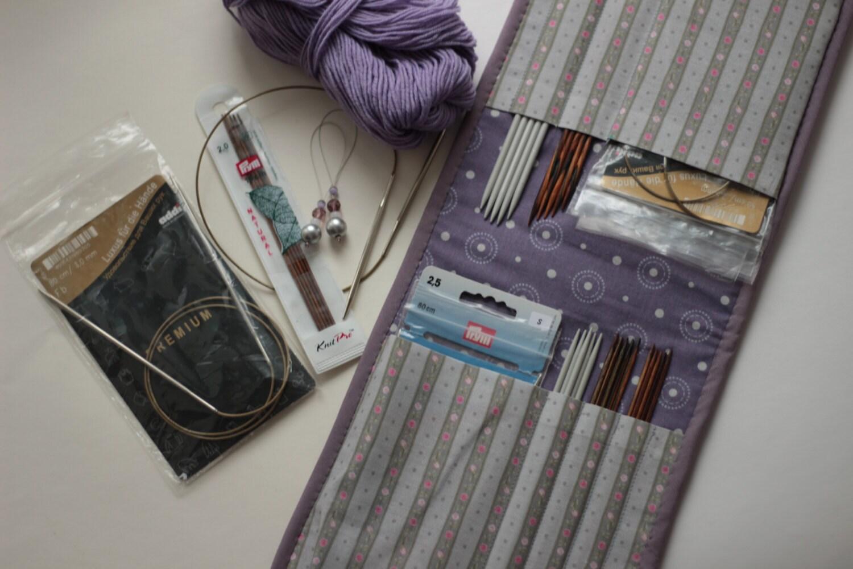 Knitting Organizer Case : Circular double pointed knitting needles case knit