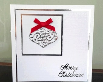 Handmade Chritmas Bauble Card