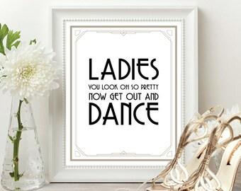 Great gatsby wedding, art deco wedding, great gatsby wedding sign, gold wedding sign, art deco wedding, roaring 20s party decorations, bar
