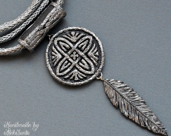 Celtic necklace Celtic pendant Celtic jewelry Boho necklace Boho pendant Boho jewelry Feather necklace Feather pendant Feather jewelry