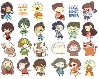 Avatar series sticker sheets