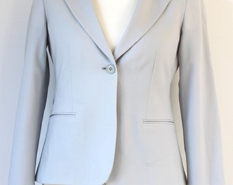 Vintage Giorgio Armani Pure New Wool Spring - Summer jacket in Duck Egg Blue Italy Size - 44 (UK12)