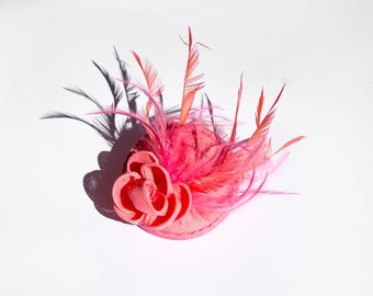 Beautiful Rose Sinamay Headpiece