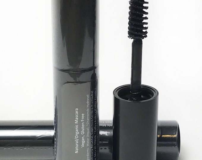Vegan Makeup-Vegan Mascara, Organic Mascara, Black Vegan Mascara, Vegan Long Wear Mascara, Organic Black Mascara, Vegan Organic Mascara