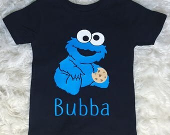 Baby Cookie Monster boys/toddler shirt