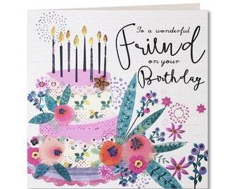 Chroma Collection - Special Friend Birthday Card - Wonderful Friend Card - Birthday Card for Her - Happy Birthday - CH18