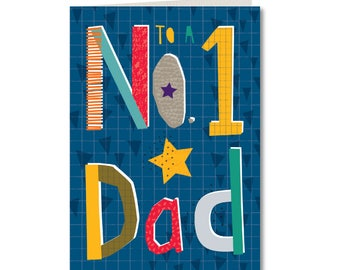 SPECIAL OFFER! Was 1.99, Now 1.50 - Cut-Out Cuties - Happy Fathers Day - To a No.1 Dad - Father - Dad - CO43