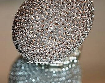 Silver crystal effect decorative egg , Easter egg , sofreh aghd