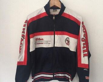 Vintage Wilson Trainer Track Top Multi Colour Jacket