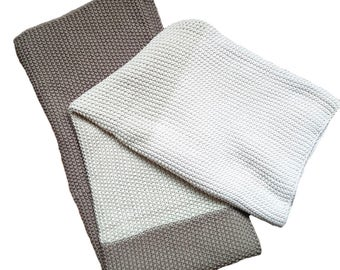 Cotton Throw Blanket - Zac Collection by Pink Lemonade - Creamy Chocolate - 100% Cotton