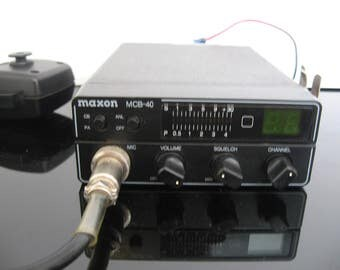 Vintage Maxon 40 Channel Compact CB Radio with Mic -  MCB-40