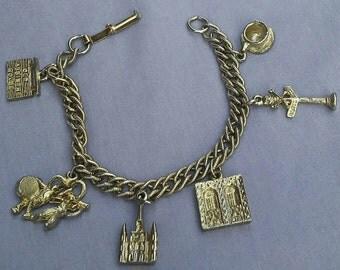 Vintage New Orleans Absinthe House charm bracelet