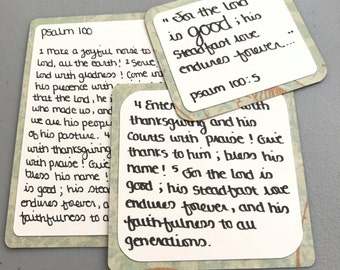Scripture Cards // Psalm 100 // Bible verse