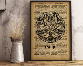 Native American Art Print Tesuque Pottery Design, Tribal print, Tesuque culture art, Native American Wall Art Decor (D14)