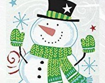 Pack of 20 SNOWMAN SWIRL Christmas Cellophane Bags - Perfect for Homemade Christmas Gifts