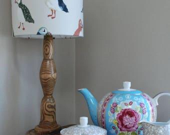 Handmade Lampshade Puffin Driftwood