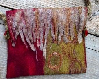 Evening felt tote bag, Felted original crossbody bag, Felted handbag, messenger felted bag, Felted purse, evening bag
