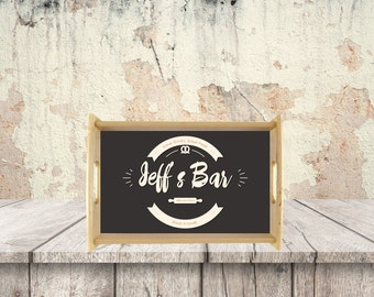 Custom Wood Serving Tray, Personalised Wood Serving Tray, Logo Serving Tray, Wood Tray With Custom Options, Wedding Gift Serving Tray