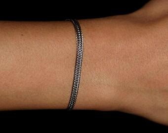 Mens Bracelet, Stacking Bracelet, Gold Bracelet, Layerin Bracelet, Stacking Jewelry, Birthday Gift, Delicate Bracelet, Romicajewelry.