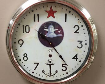 Nautical themed clock