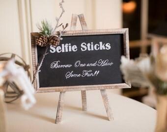 "Wedding Sign - ""Selfie Sticks"""