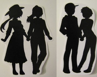 Gay Pride Sticker Silhouettes | LGBT | No H8 | Stickers