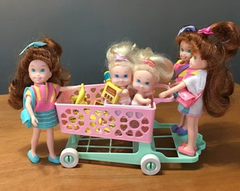 1992 Tyco Quints Cousins Shopping Cart for 3 - For 3-in-1 shopping fun!?
