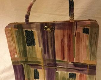 Margaret Smith modern art paint stroke handbag