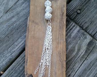 Silver Chain Tassel