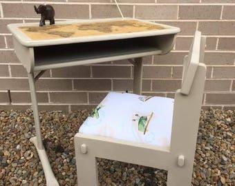 Vintage School Desk & Chair