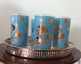 Fabulous Turquoise and Gold highballs