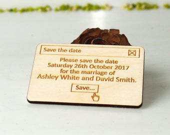 Save the date-Save the date rustic-Save the date magnet-Wood save the date-Wedding gift-Save the date magnet rustic-wedding favors-Magnet