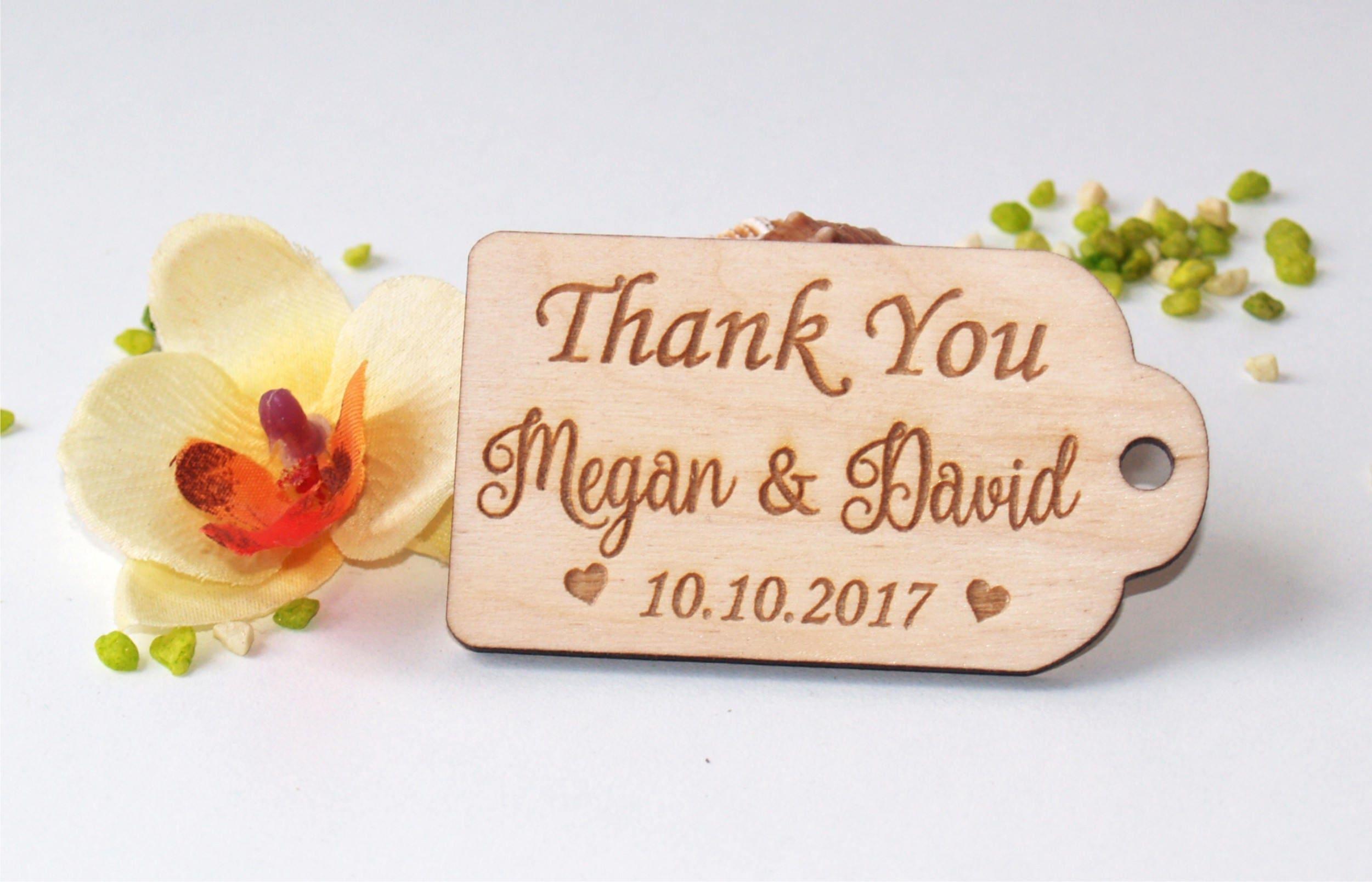 wedding favor tags wood favor tags wedding favors wood