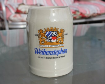 1980's Vintage Beer Stein from Weihenstephan - 1/2 Liter - Excellent Condition