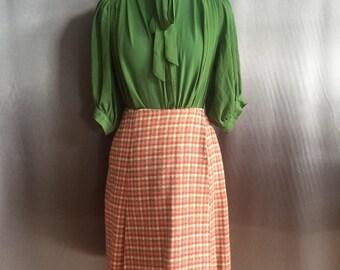 Cutest Vintage Pendleton Schoolgirl Plaid Wrap Skirt