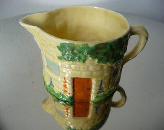 Rare Vintage Carlton Ware Art Deco Cottage Milk Jug c1930s