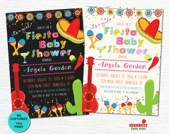 Fiesta Baby Shower Invitations. Mexican Baby Shower Invitation. Fiesta  Birthday Invitation. Cinco De