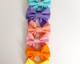 "Spring pastel sailor bows 2""x3"""