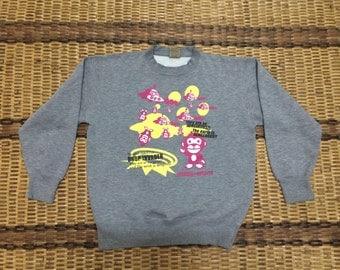 Vintage 90's UITTG Baby Classic Design Skate Sweat Shirt Sweater Varsity Jacket Size M #A561