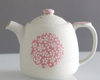 Japanese Sakura (cherry blossom) teapot with filter, very nice gift, kawaii!