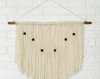 boho yarn wall hanging shabby chic handmade nursery headboard