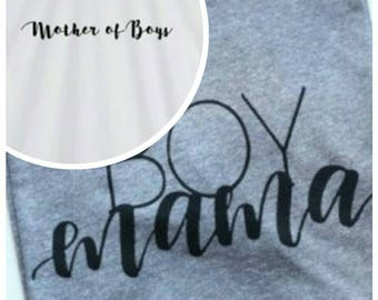 Mother of boys, boys mama T-shirt choose options