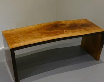 Natural Edge Walnut Slab Coffee Table
