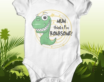 Mum Thinks I'm Roarsome Baby Bodysuit | Cute Baby Clothes | Funny Baby Bodysuit | Going Home Outfit | Newborn Baby Clothes | Baby Dinosaur