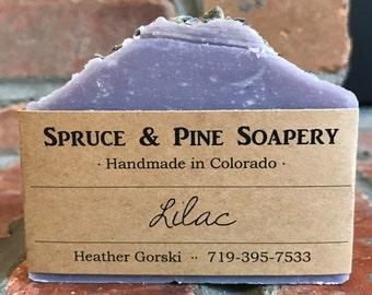 Lilac Soap -- Exfoliant soap, Cold Process Soap, Homemade soap, essential oil soap